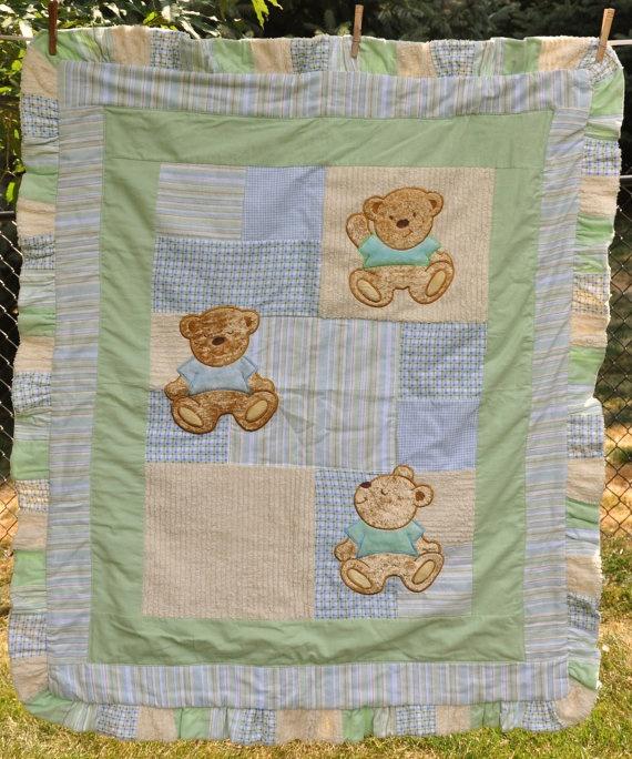 23 best Teddy bear quilt ideas images on Pinterest | Kid quilts ... : martha stewart baby quilt - Adamdwight.com