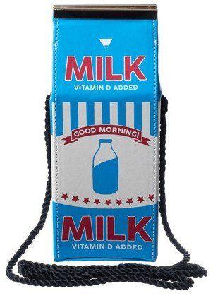 SKINNYDIP ( スキニーディップ ) ロンドン デザイン キュート ミルクパック 肩掛けバッグ MILK CROSS BODY BAG ビタミン 牛乳 クロス 紐 ショルダー バック 海外 ブランド