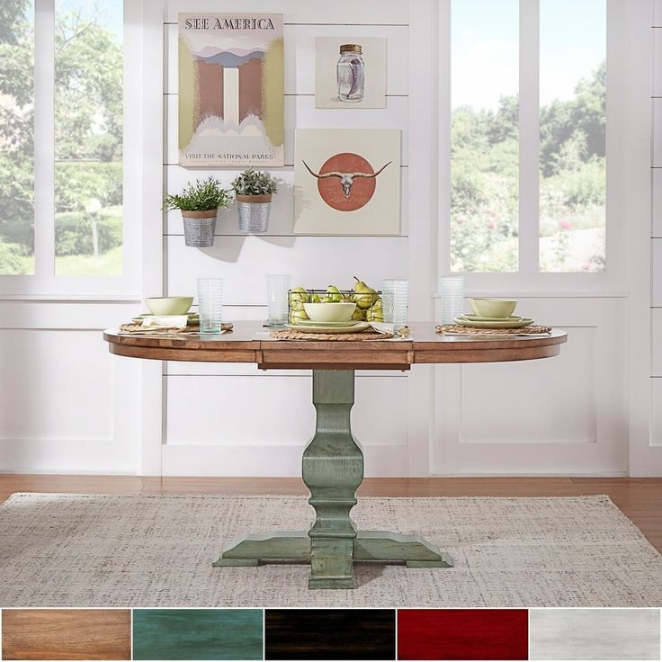 Eleanor Two-tone Oval Solid Wood Top Extending Dining