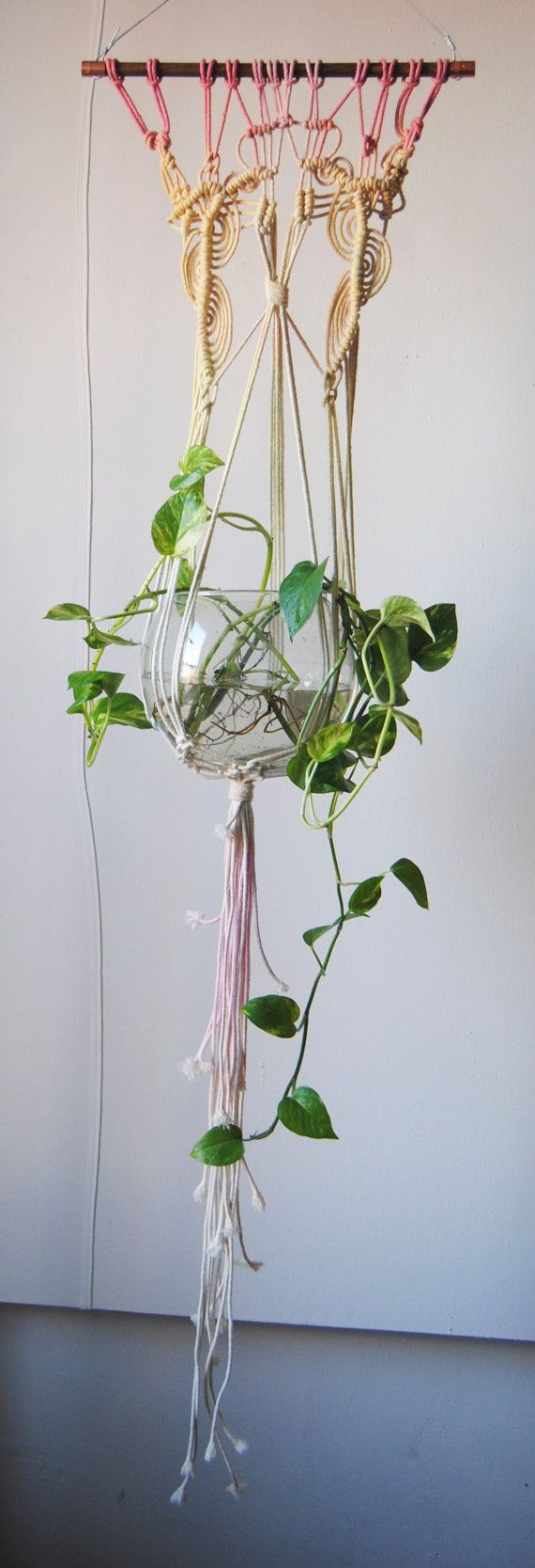 Macrame Plant Hanger: Slow Down Productions