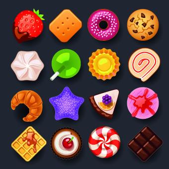 Vivid food icon design vector 04
