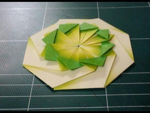 183.종이접기,오월의장미.origami.컵받침접기.***   ORIGAMI ...