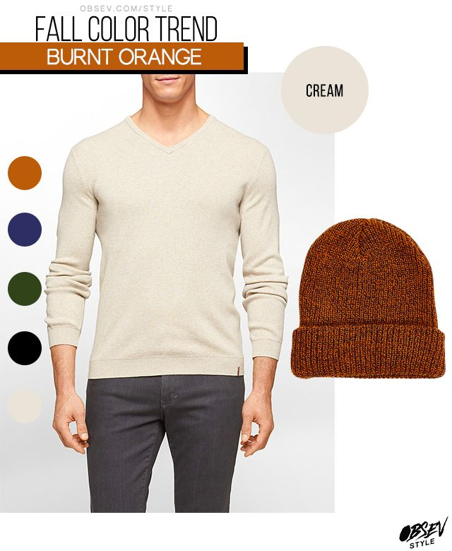 Men's Fashion - How To Wear Burnt Orange In The Fall | Obsev