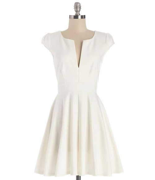 TW_5049 Short White Formal Dress
