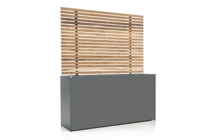 Toller Sichtschutz aus Stahl - Gartensilber - Sichtschutz1