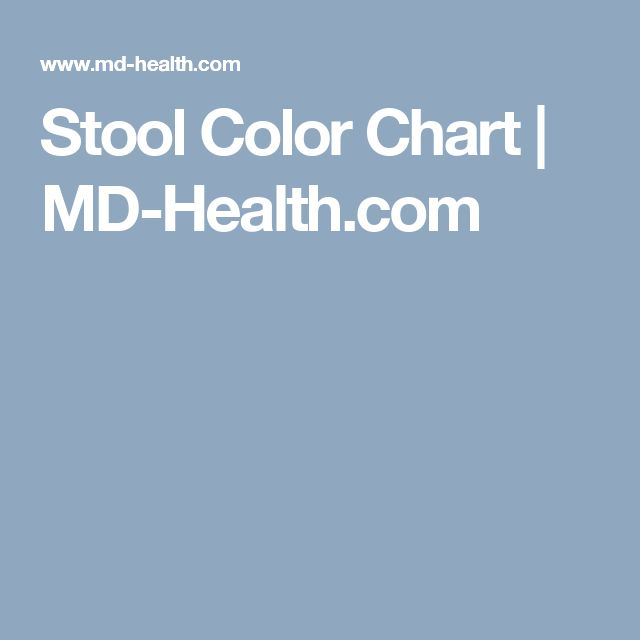 Stool Color Chart MD-Health Health and Wellness - stool color chart