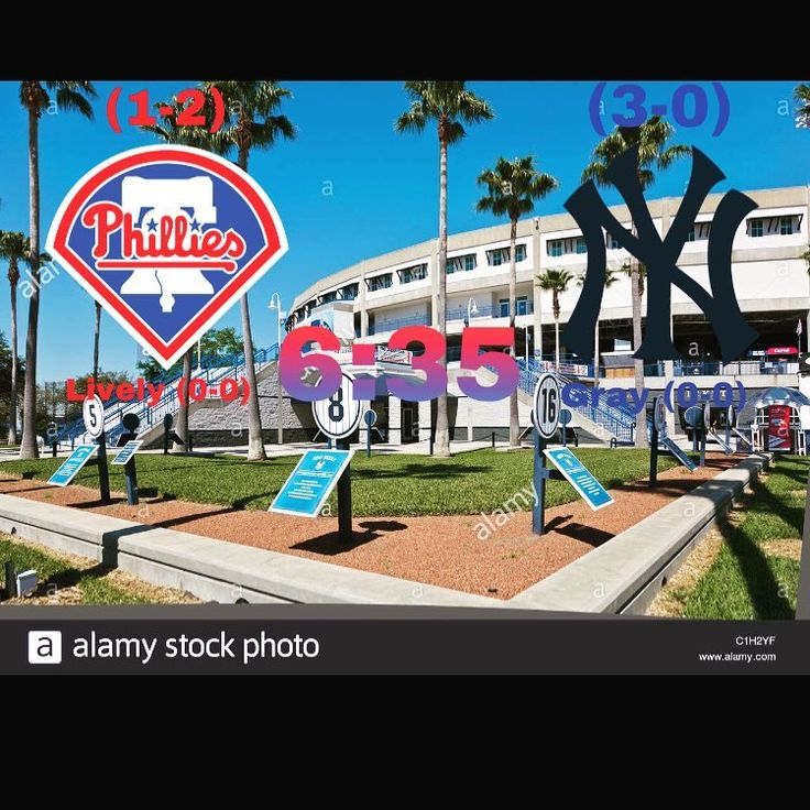 Phillies take on the Yankees tonight and look to get them back for yesterday. Game is at 6:35 tonight. Also Im trying a new thing for the score so let me know which one you like better! #phillies #philliesnation #beatyankees #tampa #springtraining #baseball