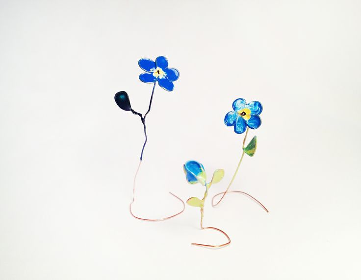 Monica Georgescu, BLUE FLOWERS BY M