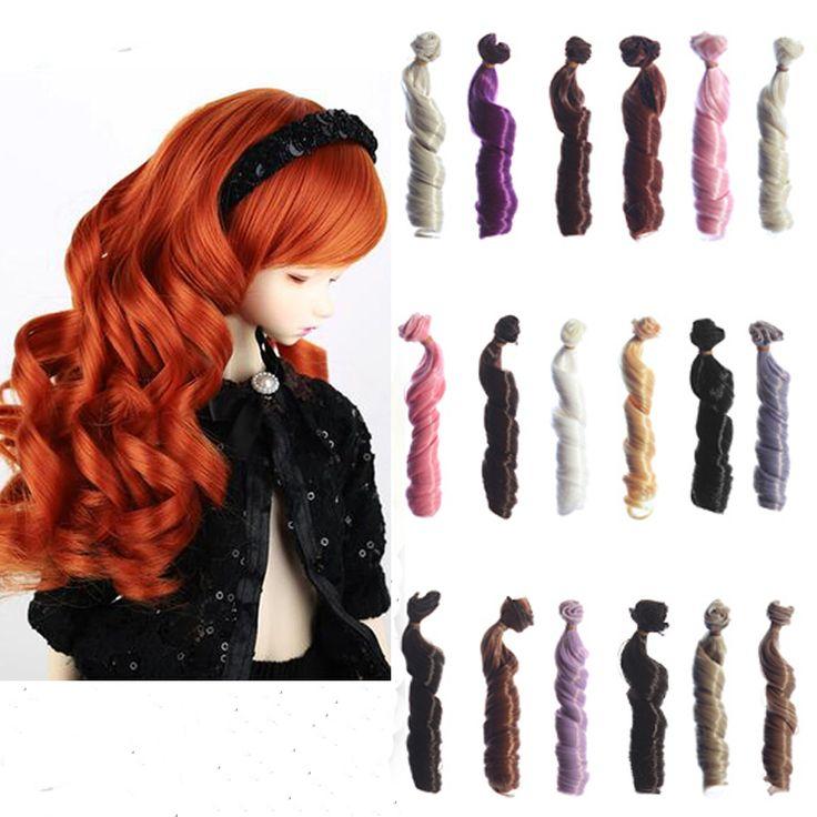 Купить 1 шт. 15 см х 100 см коричневый льняное кофе черный коричневый цвет высокая температура вьющиеся волосы куклы для 1/3 1/4 1/6 BJD куклы парикии другие товары категории Аксессуары для куколв магазине Top1 Fashion storeнаAliExpress. парик реальные волосы и парик красный