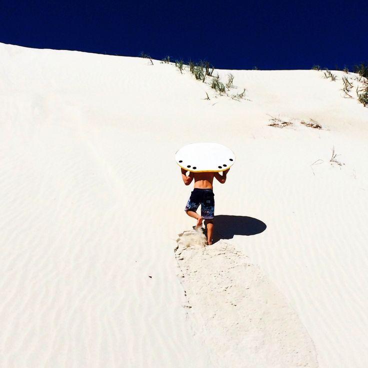 Sand Boarding. @TeamWhites photo.