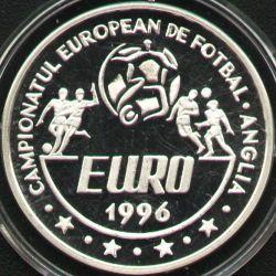 100 lei 1996 UEFA European Football Championship England - reverse