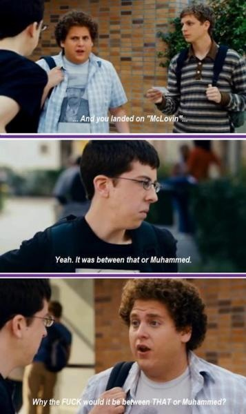 One of our favorite movies........Superbad