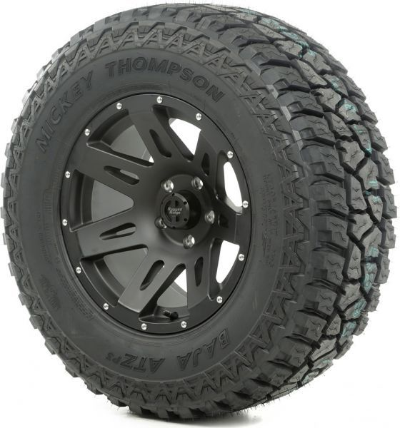 rugged ridge 18x9 xhd wheel in black satin with mickey thompson atz p3 tire in 305 60r18 for 13. Black Bedroom Furniture Sets. Home Design Ideas