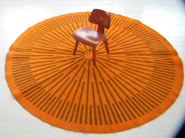 XXXL orange Round Rug.