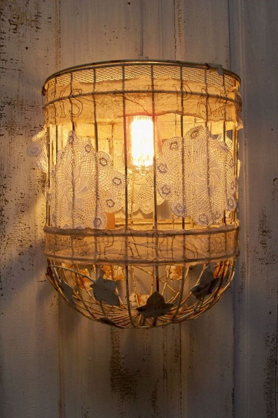Industrial farm house pendant lighting bird cage swag shabby cottage hanging home decor anita spero & 149 best Bird cage crafts images on Pinterest | Decoration Flower ... azcodes.com