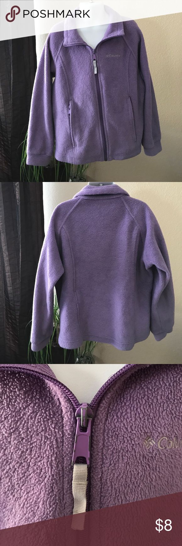 Girls Columbia Jacket & lightweight zip up hoodie 💜💜💜BOGO!!💜💜💜 Gently used...  Some signs of wear on the metal part of the zipper.  See pictures. Columbia Shirts & Tops Sweaters