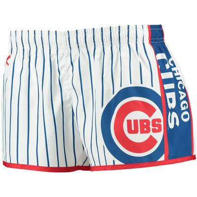 Chicago Cubs Women's Pinstripe Shorts - Royal/Red
