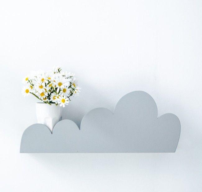 Grey Wall Shelf For Baby Bedroom