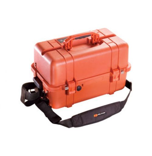 Pelican Tool Box 1460-ems Waterproof Case. case offers far more greater features then its peers. The case comes with a folding tool tray allowing the user to store their everyday industrial tools and much more.