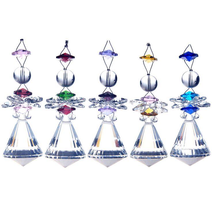 Set 5 Window Hanging Suncatcher Crystal Prism Pendants