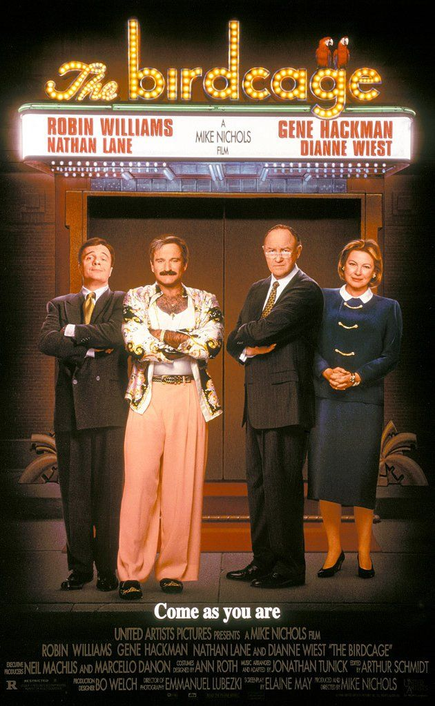 The Birdcage (1996) - Don't know how I forgot to add this to this board before Robin Williams' untimely death brought it to mind, it's one of our favorites films and our favorite Robin Williams film. RIP, Robin Williams, your inimitable humor and rambunctious energy are greatly missed.