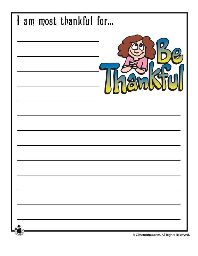 Cornucopia printable writing activities