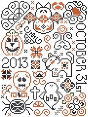 Free Halloween cross-stitch patterns cyberstitchers.com