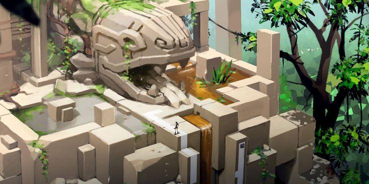Lara Croft Go Concept Art by Thierry Doizon | Concept Art World