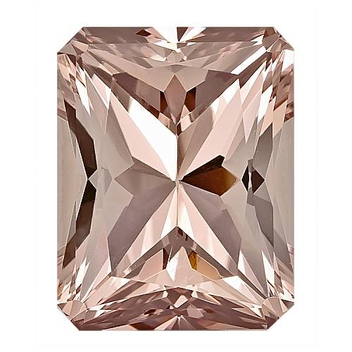 Radiant Cut Peach Morganite 11mmx9mm 4 15 Carats Loose Gem Stone | eBay - $325