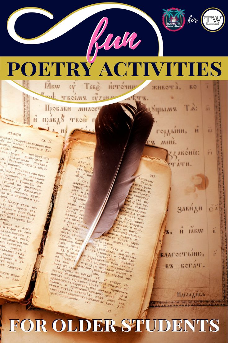 5 Poetry Activities Students Love — Article by Reading and Writing Haven for TeachWriting.org #poetryactivities #highschoolela