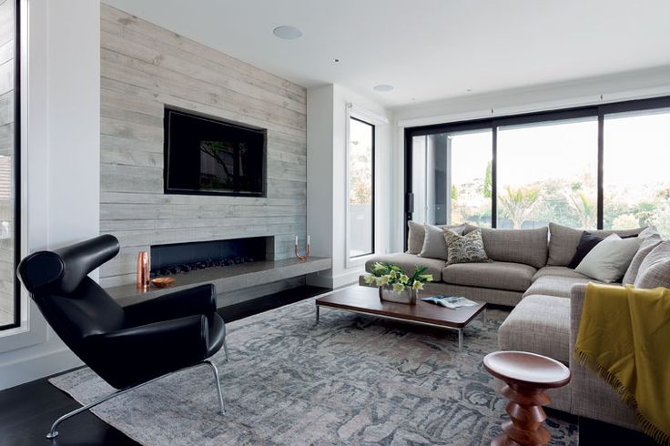 Interior designer Jason Bonham introduced texture to balance the muted colour palette.
