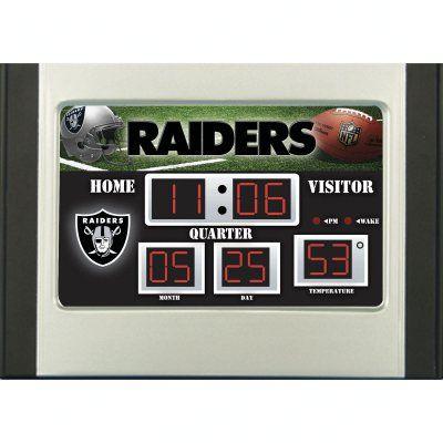 Team Sports America NFL Scoreboard Desk Clock - 0128808