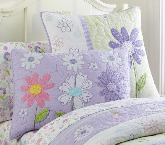Daisy Garden Quilted Bedding Pottery Barn Kids With