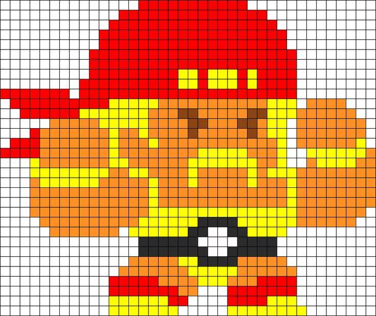 Hulk Hogan Perler Bead Pattern / Bead Sprite | Awesome ...