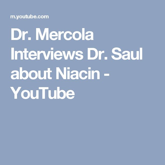 Dr. Mercola Interviews Dr. Saul about Niacin - YouTube