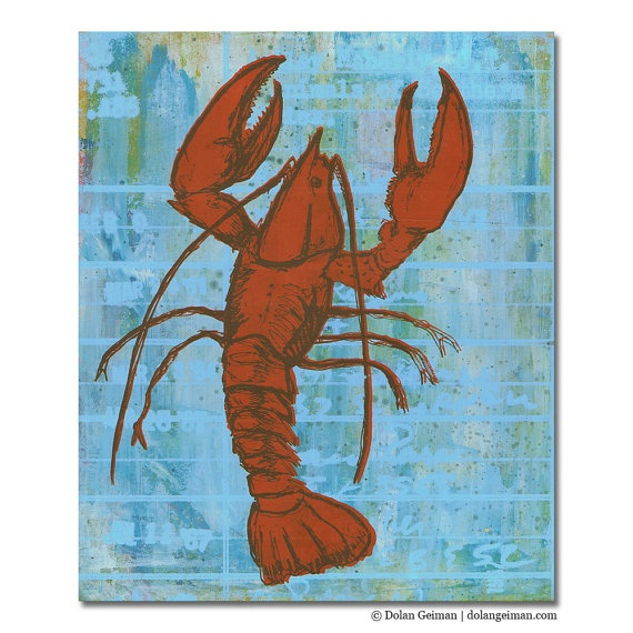 16 best AB images on Pinterest | Lobsters, Art paintings and Crabs