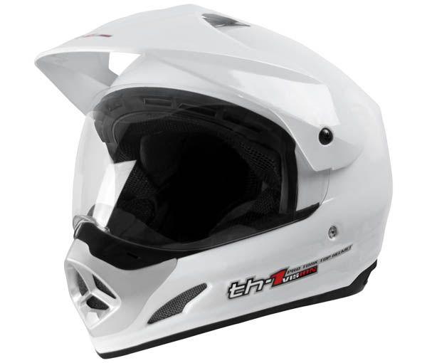 Capacete Fechado Top Helmet Vision TH-1 Branco Pro Tork