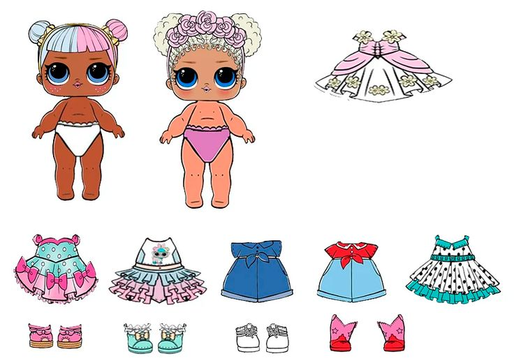 Лол с одеждой.jpg - Google Диск | Куклы, Шаблоны, Воспитание