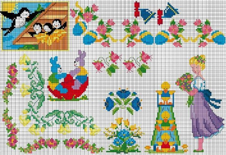 Easter Spring Cross Stitch