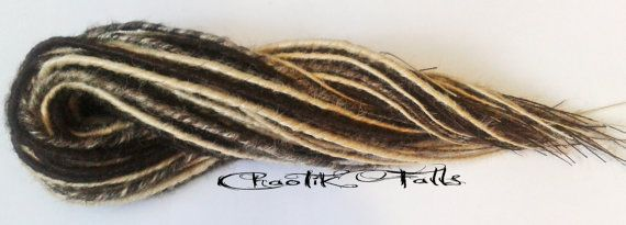 Brown and Blonde Cyber Goth Double Ended Dreads by ChaotikFalls, $150.00