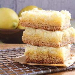 Lemon chess cake bars - This is a lemony  version of a southern classic