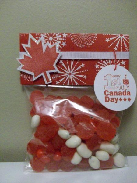 canada day treat bag