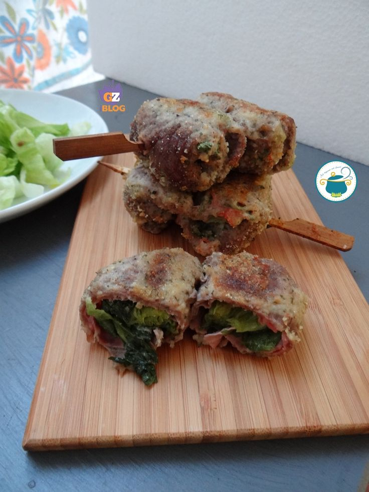 Involtini di carne ripieni di verdura gratinati