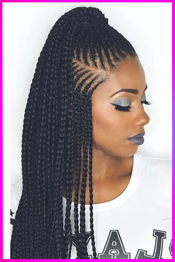Gorgeous Long Length Black Curly Braided Hairstyles For American Womens In 2020 In 2020 Hair Styles Braids For Black Hair Curly Braided Hairstyles