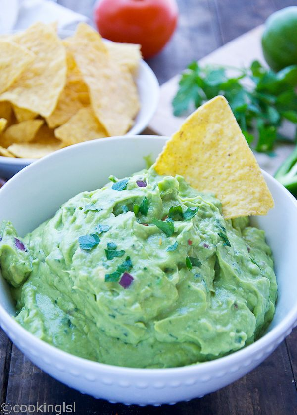 This fresh and easy blender guacamole comes together in just 5 minutes and makes a perfect snack or party appetizer.