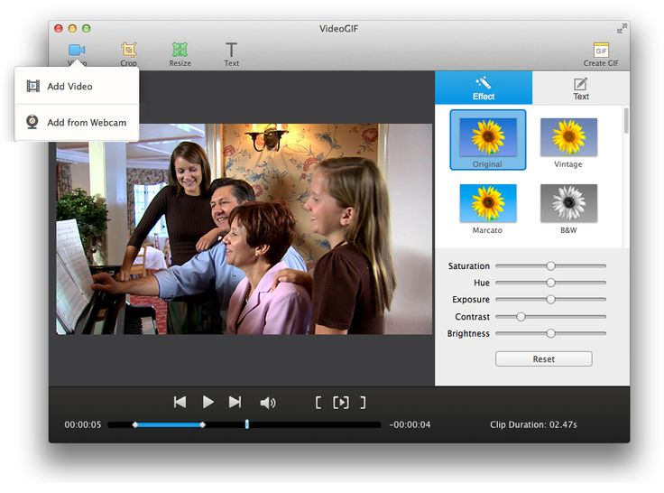VideoGIF is a quick GIF maker that allows you to create awesome animated GIFs from videos on Mac with easy steps.
