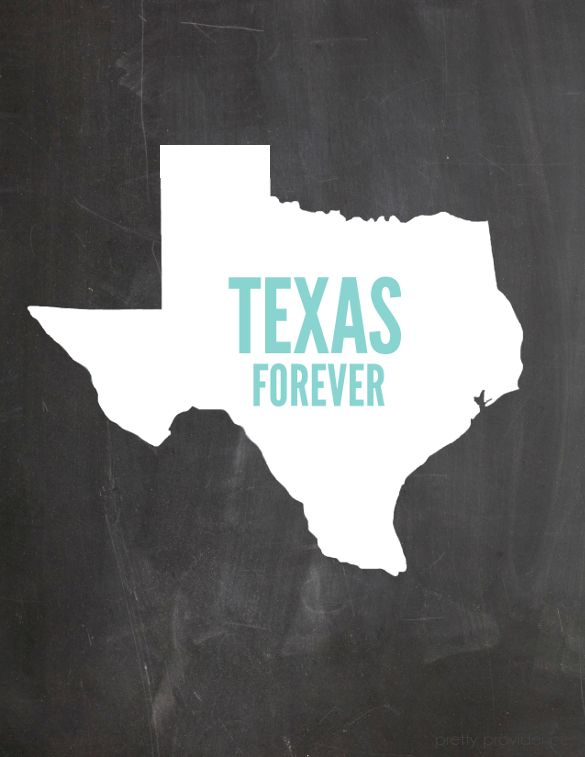 Texas Forever - free printable for Texas girls, or anyone who loves Friday Night Lights!