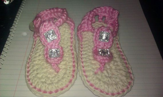 Baby Girl Gladiator Jewelled Sandals~*~ originally pinned by https://www.facebook.com/HookedOnEwe
