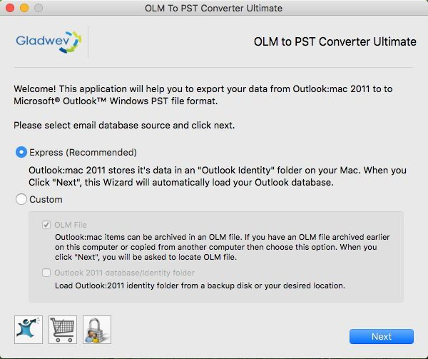 Convert OLM files to PST format in the most refreshing manner with OLM to PST Converter by Gladwev.