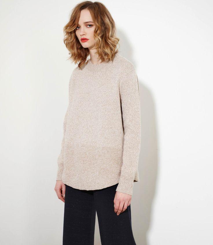 Smitten Sweater in Natural Mouline - Cashmere/Merinowww.nineteen46.co.nz